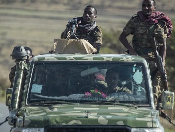 Äthiopische Streitkräfte im Tigray-Gebiet.