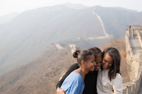 Michelle Obama Great Wall China Grosse Mauer
