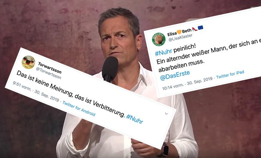 Der deutsche Comedian macht sich über die Klimastreik Bewegung lustig...  bild watson  Screenshot twitter