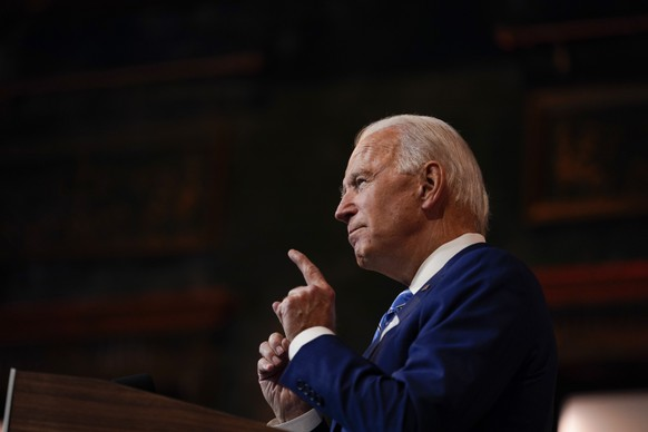 President-elect Joe Biden speaks Wednesday, Nov. 25, 2020, in Wilmington, Del. (AP Photo/Carolyn Kaster) Joe Biden