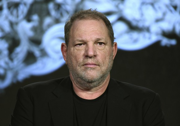 FILE - In this Jan. 6, 2016, file photo, producer Harvey Weinstein participates in a panel at the A&E 2016 Winter TCA in Pasadena, Calif. The Weinstein Co., mired in a sex scandal, may be putting itself up for sale. The company said Monday, Oct. 16, 2017, that it is getting an immediate cash infusion from Colony Capital and is in negotiations for the potential sale of all or a significant portion of the movie studio responsible for films like