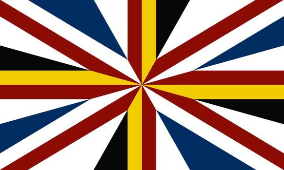 Vorschlag für eine neue britische Flagge Schottland