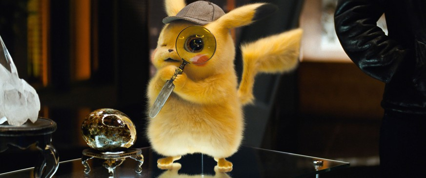This image released by Warner Bros. Pictures shows the character Detective Pikachu, voiced by Ryan Reynolds, in a scene from