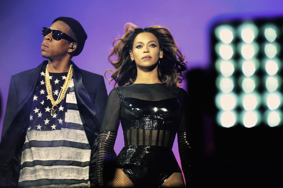 IMAGE DISTRIBUTED FOR PARKWOOD ENTERTAINMENT - Beyonce and JAY Z perform during the Beyonce and Jay Z - On the Run tour at Stade De France on Friday, Sept. 12, 2014, in Paris, France. (Photo by Mason Poole/Invision for Parkwood Entertainment/AP Images)