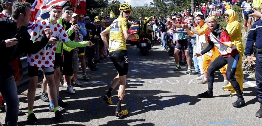 Tour de France 2016: Chris Froome am Mont Ventoux zu Fuss unterwegs