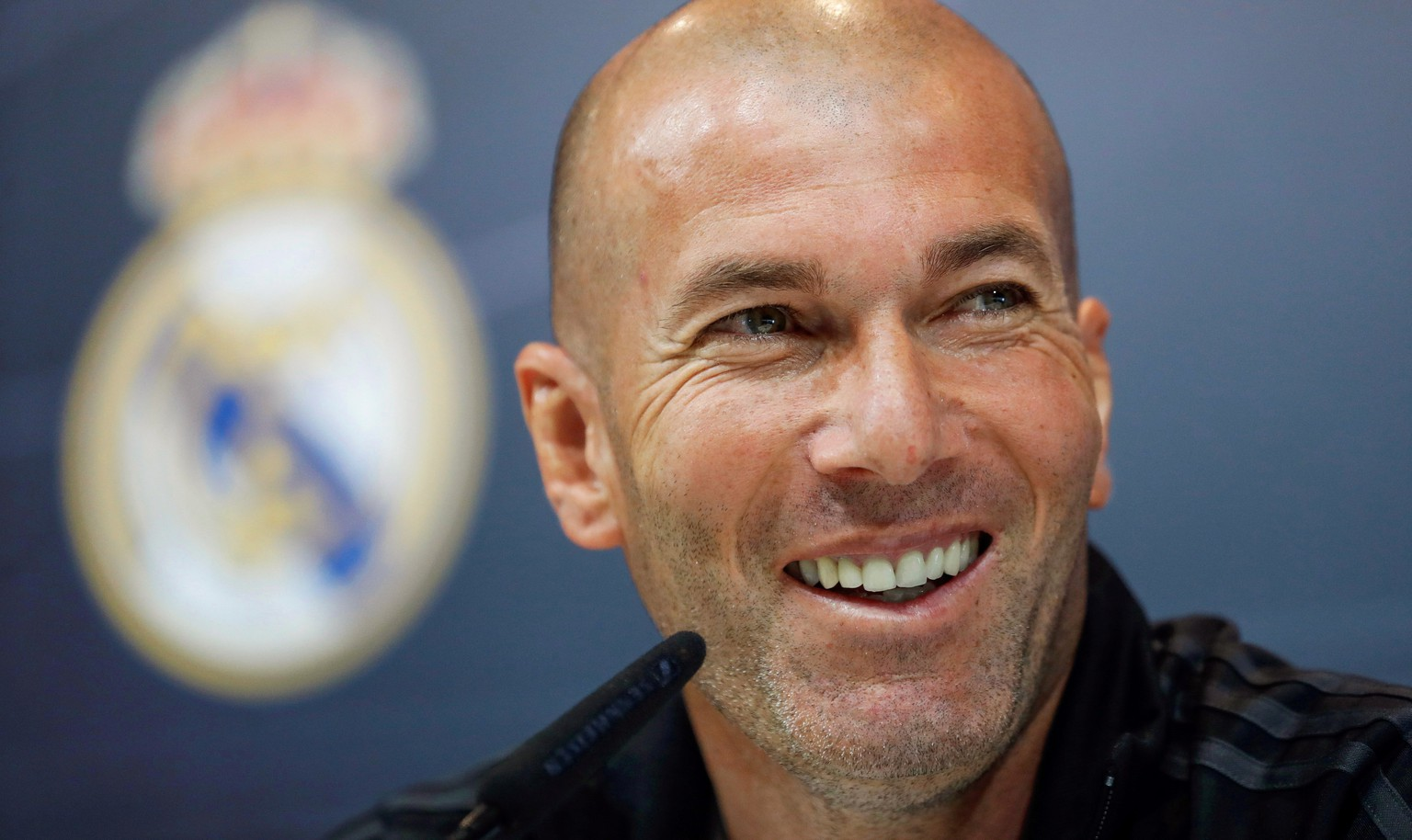 epa07429194 (FILE) - Real Madrid's head coach Zinedine Zidane attends a press conference in Madrid, Spain, 11 May 2018 (re-issued 11 March 2019). French head coach Zinedine Zidane is set to return to Real Madrid after 278 days to replace current coach Santiago Solari, Spanish TV channel LaSexta cclaimed on 11 March 2019.  EPA/EMILIO NARANJO