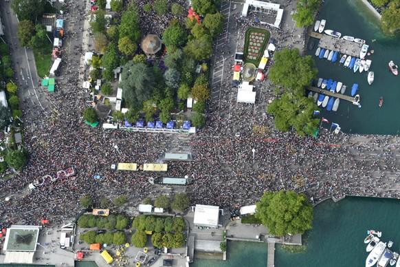 Luftaufnahmen Street Parade 2017