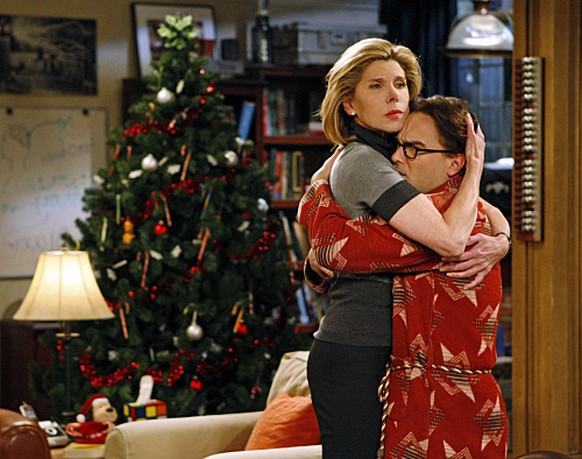 """The Maternal Congruence"" -- A visit from Leonard's mother (Christine Baranski, left) delights Sheldon, but horrifies Leonard (Johnny Galecki, right), on THE BIG BANG THEORY, Monday, Dec. 14 (9:30-10:00 PM, ET/PT) on the CBS Television Network. Photo: Sonja Flemming/CBS©2009 CBS Broadcasting Inc. All Rights Reserved."