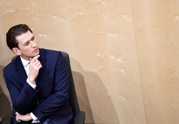 epa07605957 Austrian Chancellor Sebastian Kurz listens to a speaker during a special session of the parliament at the temporary parliament building at the Hofburg Palace in Vienna, Austria, 27 May 2019. Kurz faces a no-confidence vote in Parliament after his government's coalition partner, the far-right Freedom Party (FPOe) had come under fire over a secretly filmed video which appeared to show FPOe leader and Vice-Chancellor Heinz-Christian Strache promising public contracts in return for election campaign donations from a fake Russian backer.  EPA/CHRISTIAN BRUNA
