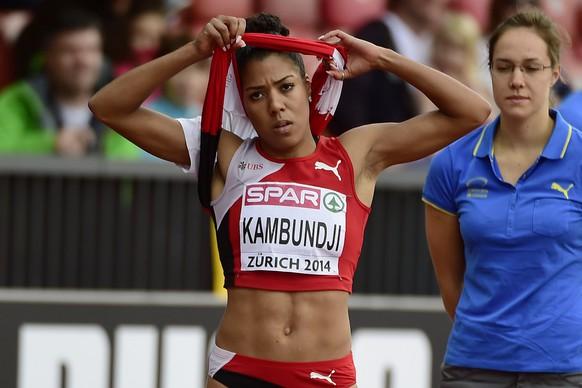 14.Aug.2014; Zuerich; Leichtathletik - EM Zuerich 2014;Mujinga Kambundji (SUI) 200 Meter Frauen (Andy Mueller/freshfocus)