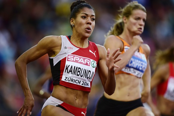 14.Aug.2014; Zuerich; Leichtathletik - EM Zuerich 2014;Mujinga Kambunji (SUI) (Andy Mueller/freshfocus)