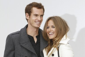 FILE- In this file photo dated Monday, Sept. 19, 2011, British tennis player Andrew Murray and girlfriend Kim Sears arrive for the Burberry Prorsum show at the West Albert Lawns in Kensington Gore, London, during London Fashion week. Murray has got engaged to his long-term girlfriend Kim Sears, his agent has confirmed Wednesday Nov. 26, 2014.(AP Photo/Joel Ryan, FILE)