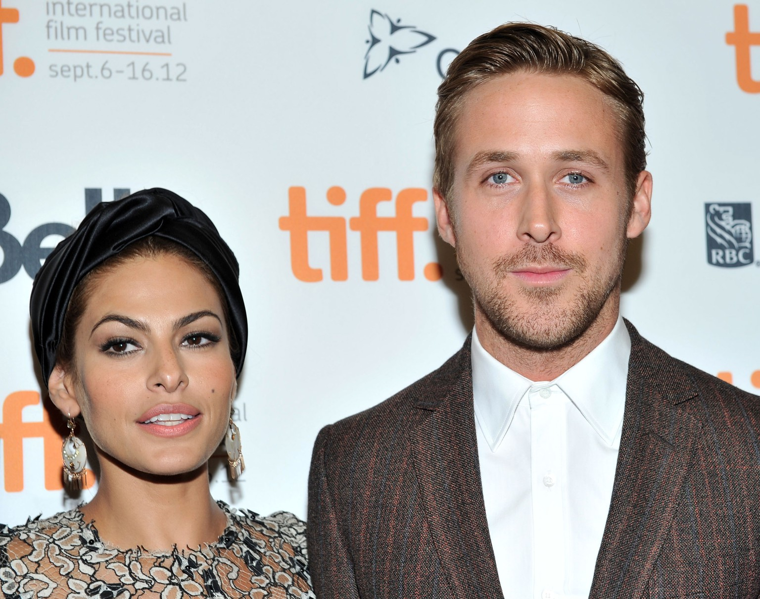 FILE - JULY 09: Actors Eva Mendes and Ryan Gosling are expecting their first child together. The couple have been together since 2011. TORONTO, ON - SEPTEMBER 07: Actors Eva Mendes and Ryan Gosling attend