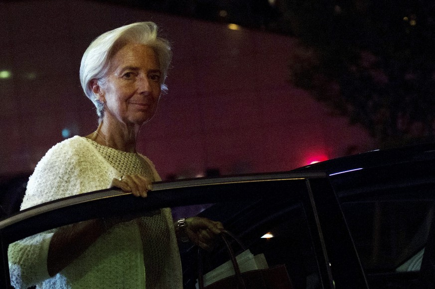 International Monetary Fund Managing Director Christine Lagarde leaves after a euro zone finance ministers' meeting on Greece, in Brussels, Belgium, July 12, 2015. REUTERS/Eric Vidal