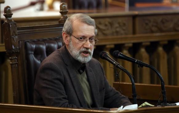 epa08339207 (FILE) - Speaker of the Iranian Parliament Ali Larijani arrives for a press conference in Tehran, Iran, 01 December 2019 (reissued 02 April 2020). According to Iranian media reports, Larijani has tested positive for the pandemic COVID-19 disease caused by the SARS-CoV-2 coronavirus.  EPA/ABEDIN TAHERKENAREH