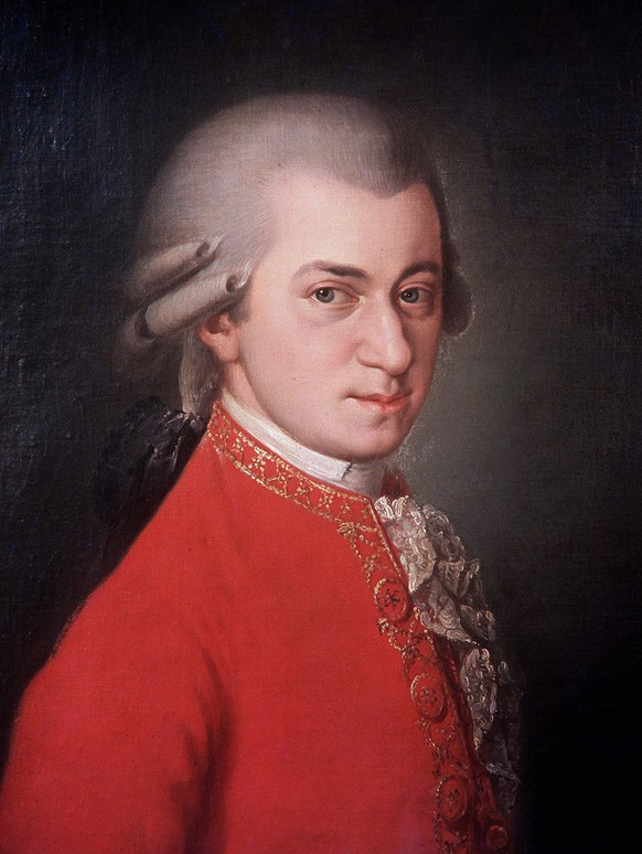 Undated portrait of  Austrian composer Wolfgang Amadeus Mozart in an oil painting by Barbara Kraft, 1819. (KEYSTONE/EPA/DPA/ANDY BERNHAUT)