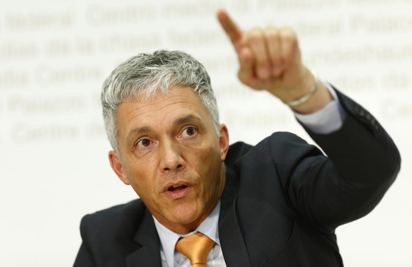 Attorney General of Switzerland Michael Lauber speaks during a news conference on the Swiss Ndrangheta arm in Bern August 25, 2014. REUTERS/Ruben Sprich (SWITZERLAND - Tags: CRIME LAW POLITICS)