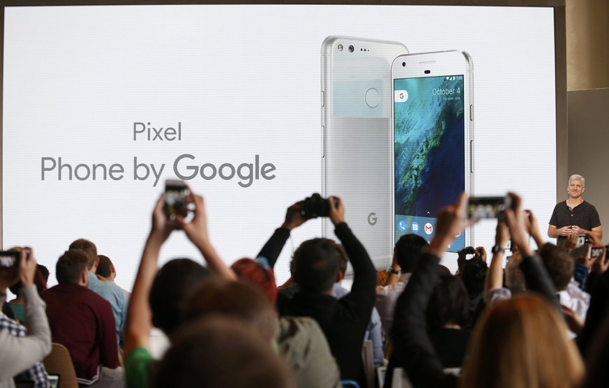 Rick Osterloh, SVP Hardware at Google, introduces the Pixel Phone by Google during the presentation of new Google hardware in San Francisco, California, U.S. October 4, 2016.   REUTERS/Beck Diefenbach TPX IMAGES OF THE DAY