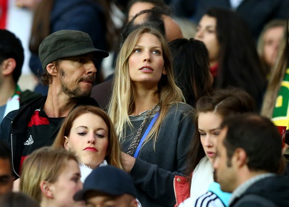 PORTO ALEGRE, BRAZIL - JUNE 30:  Sarah Brandner, girlfriend of Bastian Schweinsteiger of Germany, looks on during the 2014 FIFA World Cup Brazil Round of 16 match between Germany and Algeria at Estadio Beira-Rio on June 30, 2014 in Porto Alegre, Brazil.  (Photo by Martin Rose/Getty Images)