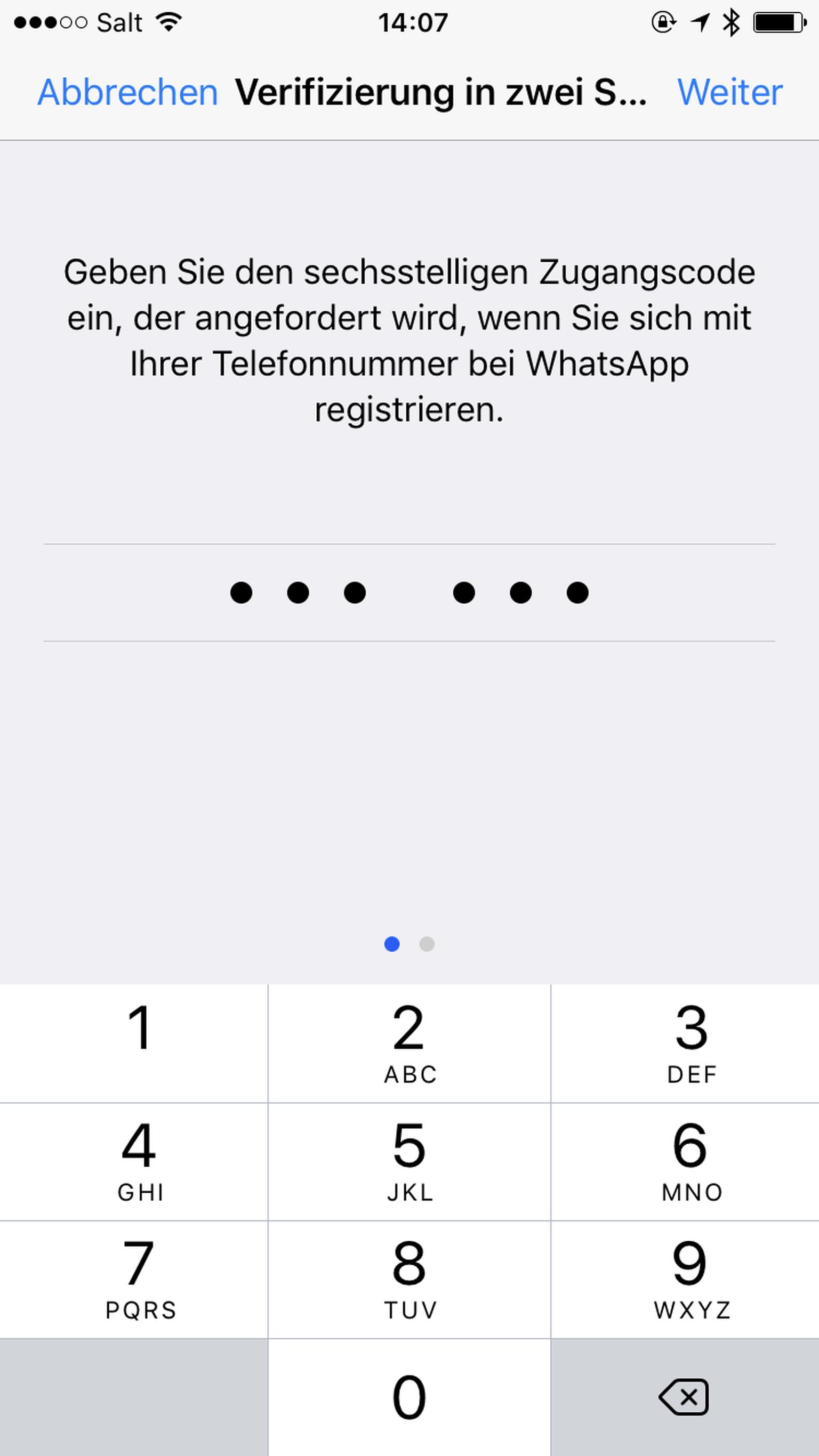 Whatsapp Anruf Verifizierung