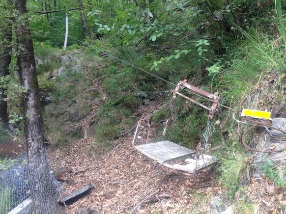 Transport-Seilbähnli im Valle Onsernone. Sie sind an jeder Ecke.