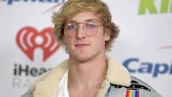 FILE - In this Dec. 1, 2017 file photo, YouTube personality Logan Paul arrives at Jingle Ball in Inglewood, Calif.  Paul describes himself as a