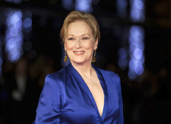 FILE - In this Oct. 7, 2015 file photo, Meryl Streep appears at the premiere of the film