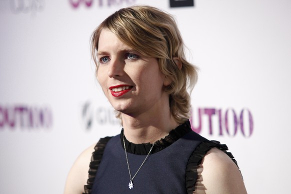 FILE - In this Nov. 9, 2017, file photo, Chelsea Manning attends the 22nd Annual OUT100 Celebration Gala at the Altman Building in New York. Former intelligence analyst Manning is again asking a judge to let her out of jail. Her lawyers filed a motion seeking her release Wednesday, Feb. 19, 2020, in federal court in Alexandria, Va. The lawyers say Manning has shown during 11 months of incarceration that she can't be coerced into testifying. (Photo by Andy Kropa/Invision/AP, File) Chelsea Manning