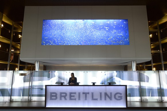 View of the Breitling booth at the world watch and jewellery show