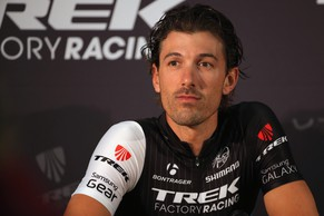 LEEDS, ENGLAND - JULY 03:  Fabian Cancellara of Switerland riding for the Trek Factory Racing Team address the media during a press conference prior to the 2014 Le Tour de France on July 3, 2014 in Leeds, United Kingdom.  (Photo by Doug Pensinger/Getty Images)