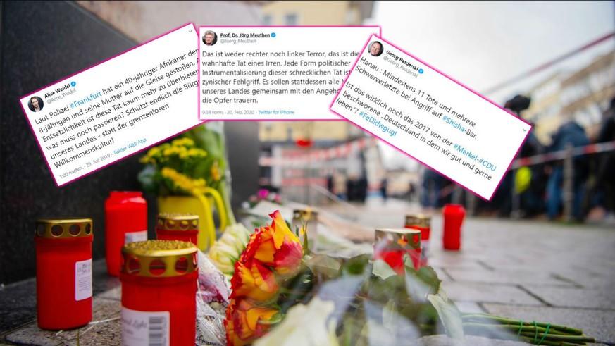 Diese drei Tweets zeigen die Heuchelei der AfD im Umgang mit rechtsextremer Gewalt
