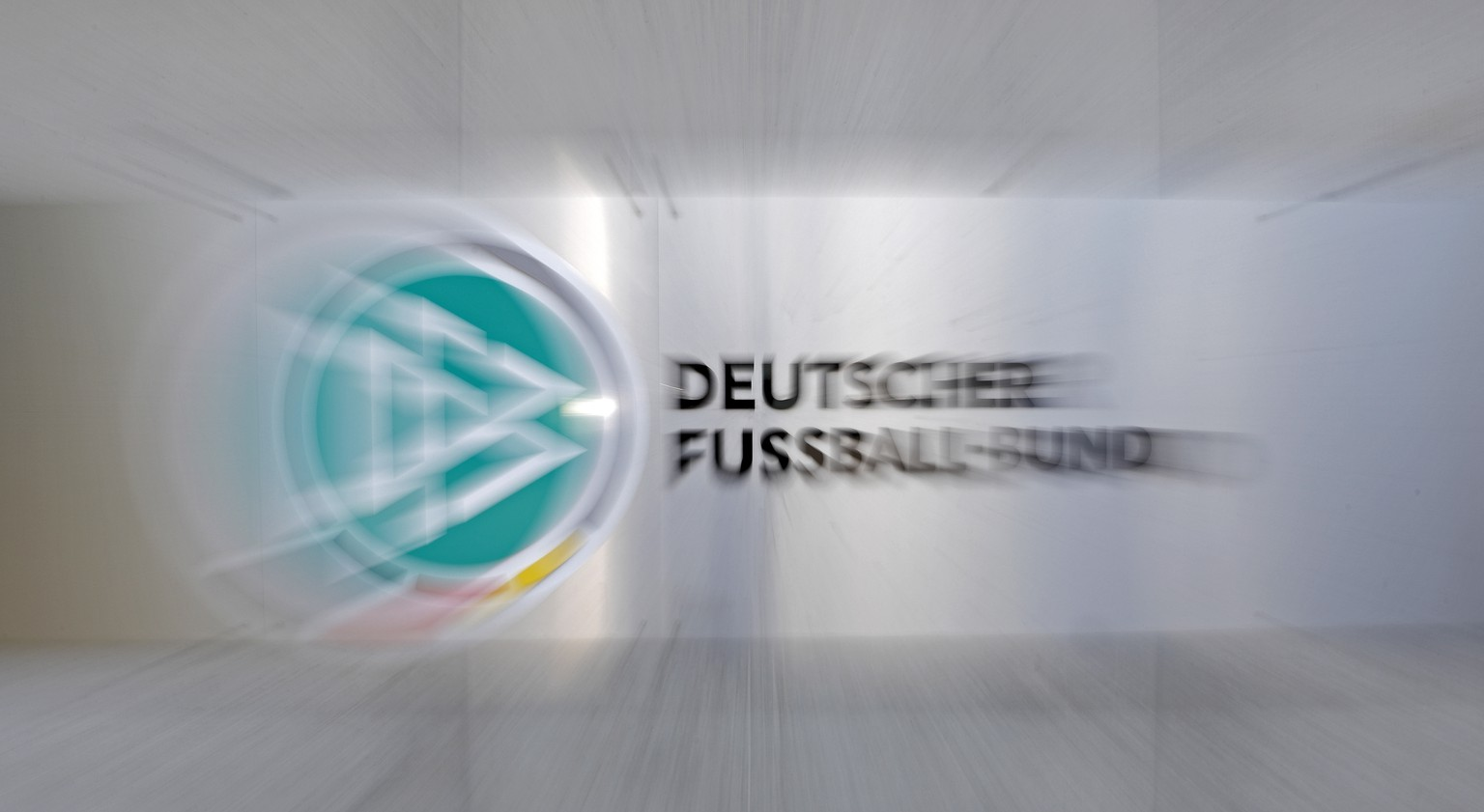epa06906200 A view of a Logo of  the DFB, German Soccer Federation, at the headquarters in Frankfurt, Germany, 23 July 2018.  EPA/RONALD WITTEK