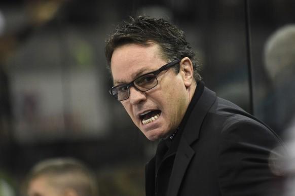 28.11.2014; Genf; Eishockey NLA - HC Genf Servette - Kloten Flyers;  Trainer Chris Mc Sorley (genf) (Alain Grosclaude/freshfocus)