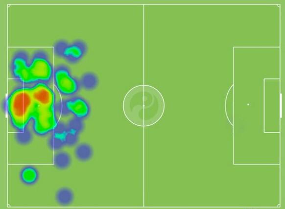 Heat Map Manuel Neuer Deutschland Algerien