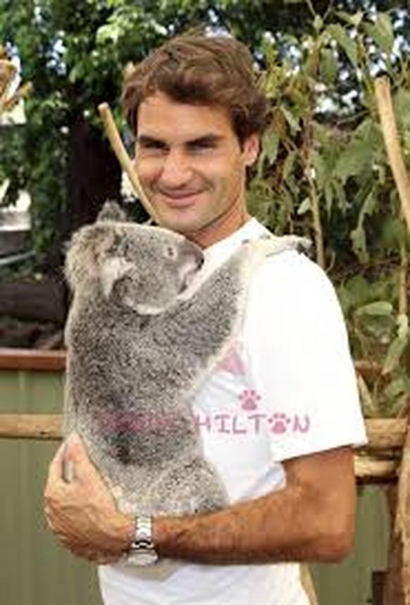 Federer mit Koala