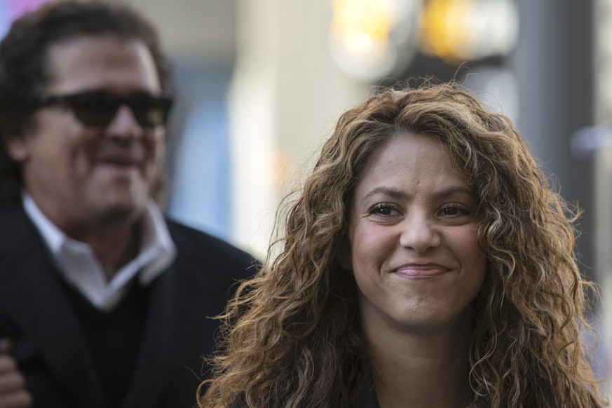 FILE - In this Wednesday, March 27, 2019 file photo, Colombian performer Shakira arrives at court in Madrid, Spain. Pop music star Shakira is appearing in court Thursday June 6, 2019, for alleged tax evasion in Spain between 2012 and 2014. (AP Photo/Bernat Armangue, File)