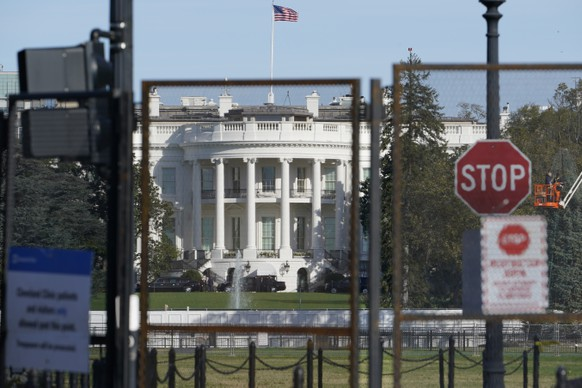 Security fencing surrounds the White House in Washington, Tuesday, Nov. 3, 2020, on election day. (AP Photo/Susan Walsh) White House