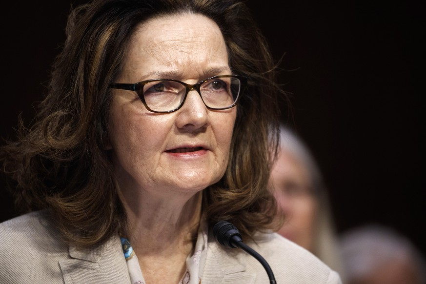 epa06745692 (FILE) - CIA Director nominee Gina Haspel testifies during her Senate Select Intelligence Committee confirmation hearing in Washington, DC, USA, 09 May 2018 (issued 17 May 2018). Gina Hapel has been confirmed by the US Senate to be the first woman to lead the Central Intelligence Agency (CIA).  EPA/SHAWN THEW