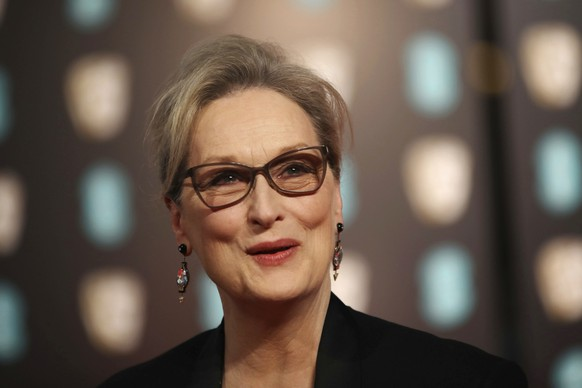 "FILE - In this Sunday, Feb. 12, 2017, file photo, actress Meryl Streep poses for photographers upon arrival at the British Academy Film Awards in London. Streep called the reports of sexual harassment against Harvey Weinstein ""disgraceful"" and said she was unaware of the alleged incidents, in a statement Monday, Oct. 9, to the Huffington Post. Streep said ""The behavior is inexcusable but the abuse of power familiar."" (Photo by Vianney Le Caer/Invision/AP, File)"