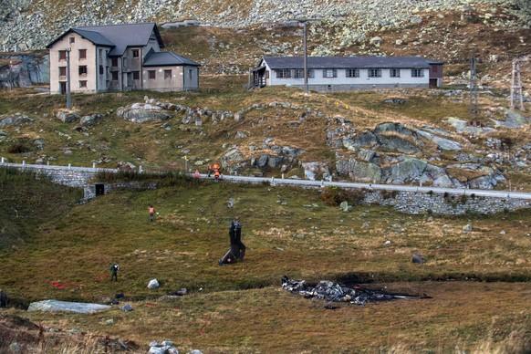 <strong>28. September 2016:</strong> Ein Helikopter der Schweizer Armee stürzt beim Gotthard ab. Zwei Piloten kommen ums Leben, eine Person wird verletzt.