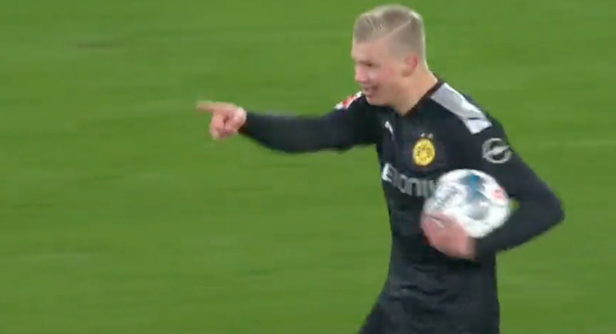 Erling Haaland kam, sah und traf nach drei Minuten in der Bundesliga