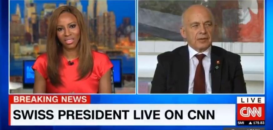 Nach Trump-Besuch: Ueli Maurer hat im CNN-Interview Verständnisprobleme