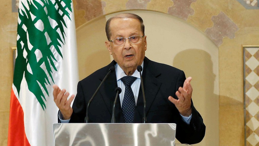 Christian politician and FPM founder Michel Aoun talks during a news conference in Beirut, Lebanon October 20, 2016. Picture taken October 20, 2016. REUTERS/Mohamed Azakir TPX IMAGES OF THE DAY