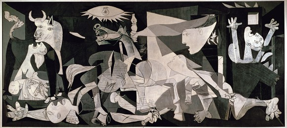 Guernica. Paris, June 4, 1937. Oil on canvas, 349.3 x 776.6 cmImage licenced to Stephen Forsling FORSLING, STEPHEN by Stephen ForslingAdditional copyright permission to reproduce the work of PABLO PICASSO must be obtained from the Artists Rights Society (ARS), 536 Broadway, 5th Floor, New York, NY 10012. Please contact ARS at (212) 420-9160 or fax (212) 420-9286 or e-mail info@arsny.com.Usage :  - 3000 X 3000 pixels (Letter Size, A4) © Erich Lessing / Art Resource