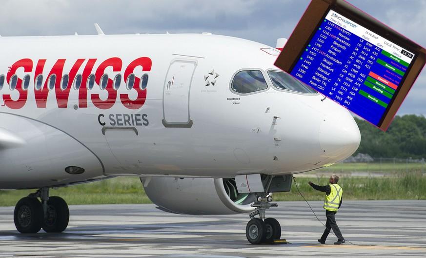 Swiss: Nach Triebwerks-Panne müssen 29 Bombardier-Jets in die Werkstatt