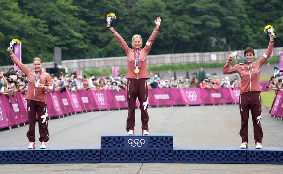 <strong>Mountainbike, Cross Country, Frauen Gold: Jolanda Neff (SUI) Silber: Sina Frei (SUI) Bronze: Linda Indergand (SUI)</strong>