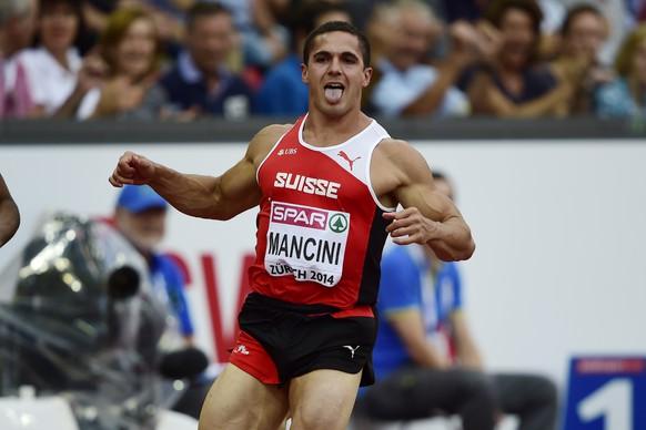 12.Aug.2014; Zuerich; Leichtathletik - EM Zuerich 2014;Pascal Mancini (SUI) im Vorlauf ueber 100 Meter (Andy Mueller/freshfocus)