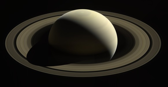 epa06199149 A handout photo made available by NASA on 12 September 2017 shows an image captured by the Cassini spacecraft of one of its last looks at Saturn and its main rings from a distance of approximately 1.4 million kilometers, 28 October 2016. The Saturn system has been Cassini's home for 13 years, but that journey is nearing its end. The spacecraft will end its expedition on 15 September 2017, following a series of 22 dives through the 2,400km gap between Saturn and its rings, with a final plunge into the gas giant. The operation aims at gaining insights into the planet's structure and atmosphere as well as at capturing views of its inner rings. NASA's Cassini spacecraft is in orbit around Saturn since 2004.  The Cassini mission is a cooperative project of NASA, ESA (the European Space Agency) and the Italian Space Agency.  HANDOUT EDITORIAL USE ONLY/NO SALES