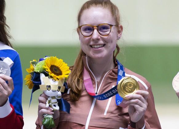 <strong>Nina Christen, Gold</strong> Schiessen, Frauen, Dreistellungsmatch 50 m