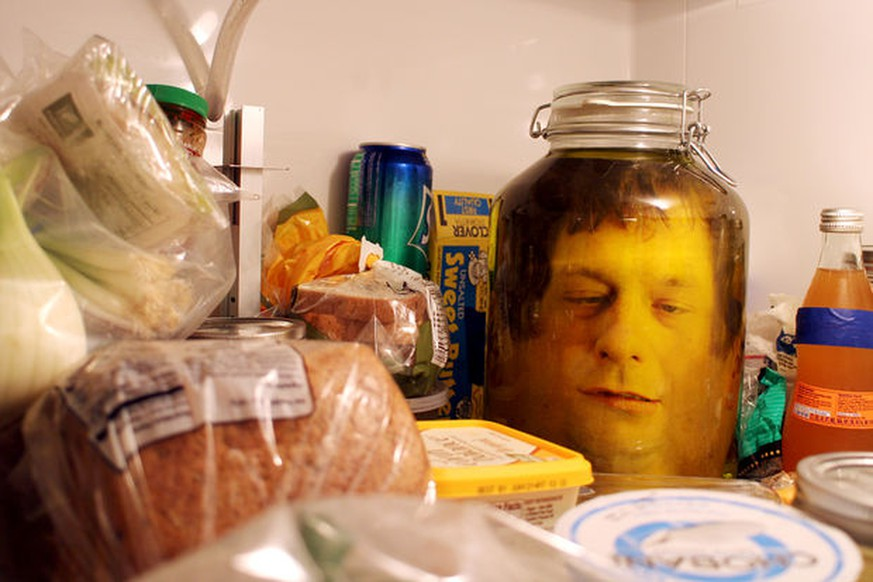 http://www.instructables.com/id/head-in-a-jar-prank/?ALLSTEPS